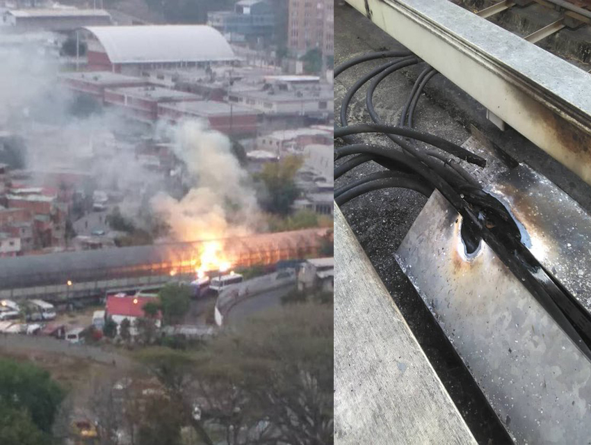 Incendio en Metro de Los Teques [+Video]